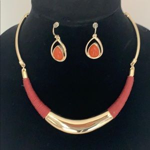 WHBM statement necklace and earrings